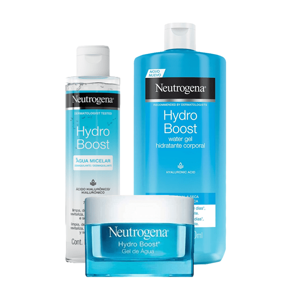 Neutrogena Agua Micelar Hydro Boost x200ml + Water Gel Facial Hydro Boost 50g +Hydro Boost Water Gel