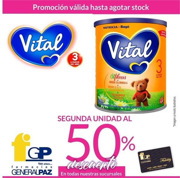 Promo Leche Vital 3. 2 Lata X 800 Ml (2da Al 50%)