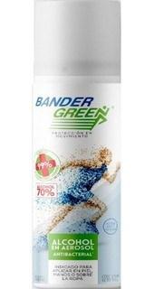 Alcohol 70% 240 Ml Spray Aerosol Antibacterial Bander Green