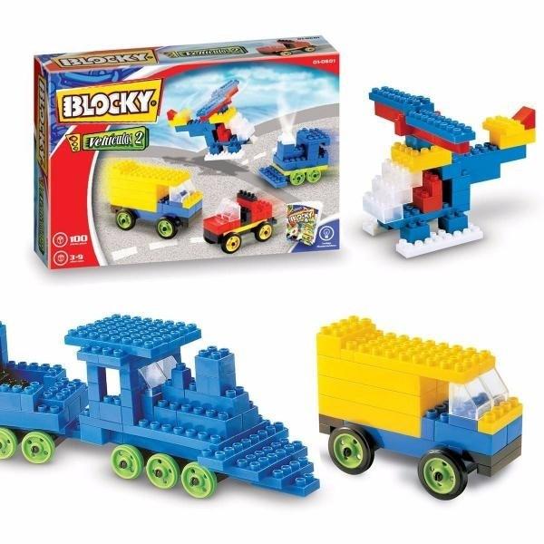 Blocky Vehículos 2 100 Piezas