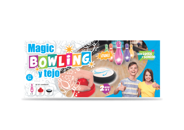 Set De Bowling Y Tejo Luminoso Magic Bowling
