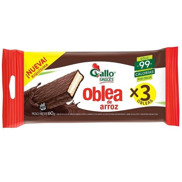 OBLEA DE ARROZ GALLO X3