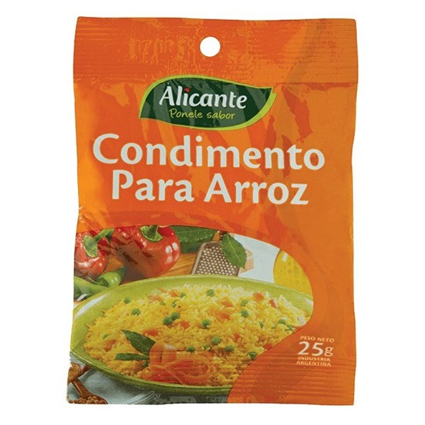 CONDIMENTO P/ARROZ ALICANTE x 25 G