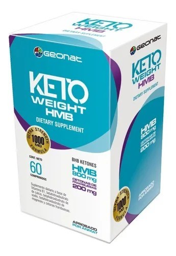 Suplemento Dietario Keto Weight HMB 60 Comprimidos