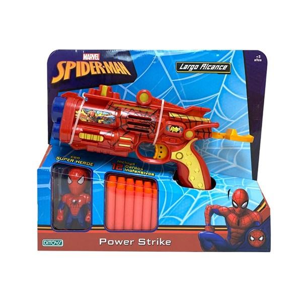 Pistola Lanza Dardos Spiderman Con Muñeco