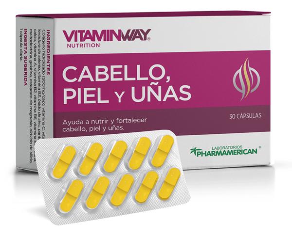 Suplemento Cabello, Piel y Uñas Vitamin Way Blister x10 Cápsulas