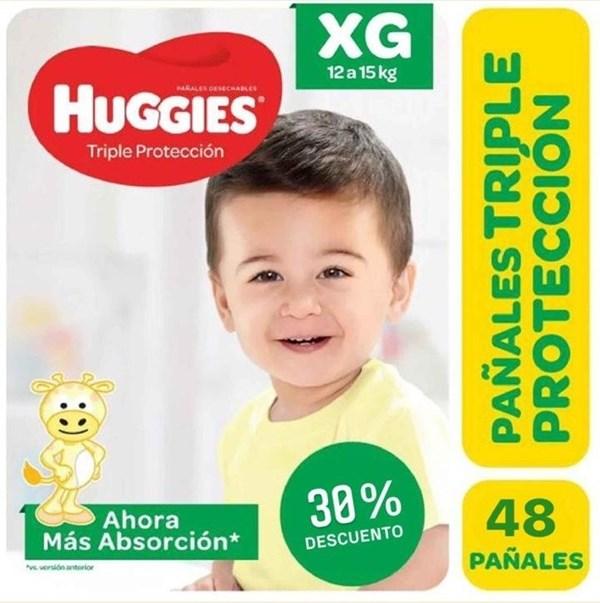 Huggies Classic Triple Protección Talle Extra Grande Pack x 48 Pañales