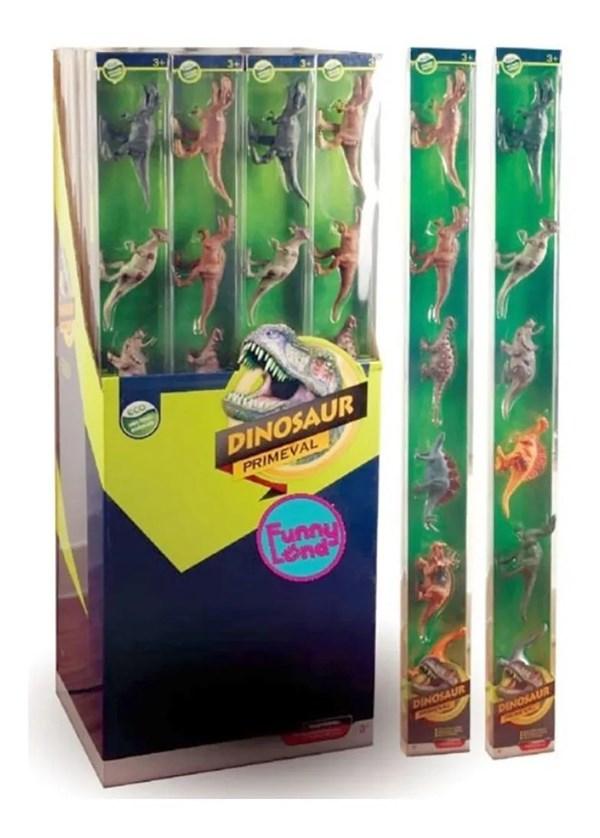 Dinosaurios Muñecos En Tubo x6