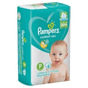 Pampers Confort Sec P x 8 unidades.