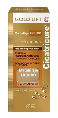 Cicatricure Gold Lift Maquillaje Líquido Tono 2 Medium 30ml