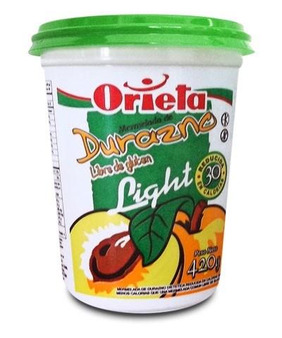 MERMELADA ORIETA LIGH/DURAZNO x 420 G