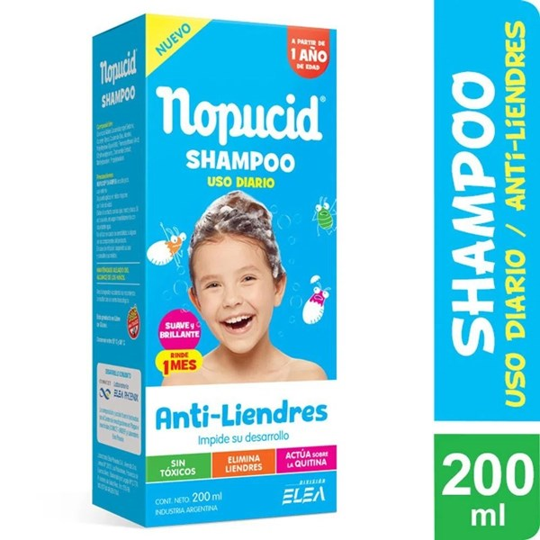 Nopucid Pediculicida x 200 ml Shampoo Uso Diario