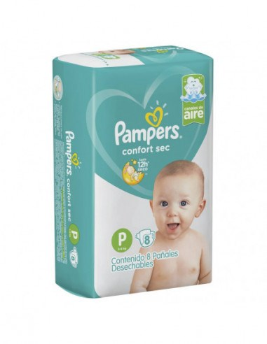 Pañales Pampers Confort Sec P X8 Combo x10 Paquetes