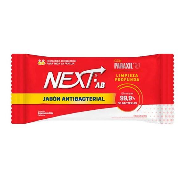 Next Jabón Antibacterial AB 90g x3 Unidades