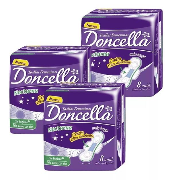 Doncella Toallas Femeninas Nocturna 8un  2x1