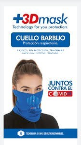 Cuello Barbijo 3 D Mask