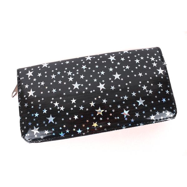 Billetera Holográfica Con Estrellas Carey