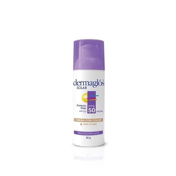 Dermaglos Solar F50 Facial Con Color Crema X 50 Gr