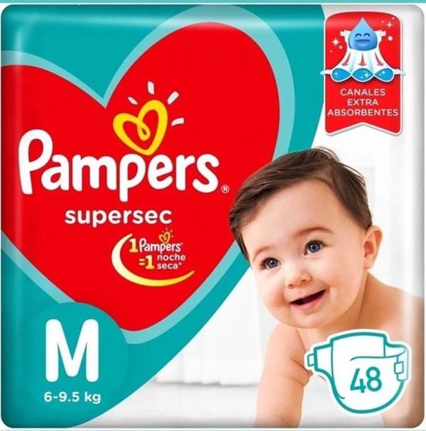 Pampers Confort Sec Tamaño Mediano Pack X 48 Pañales