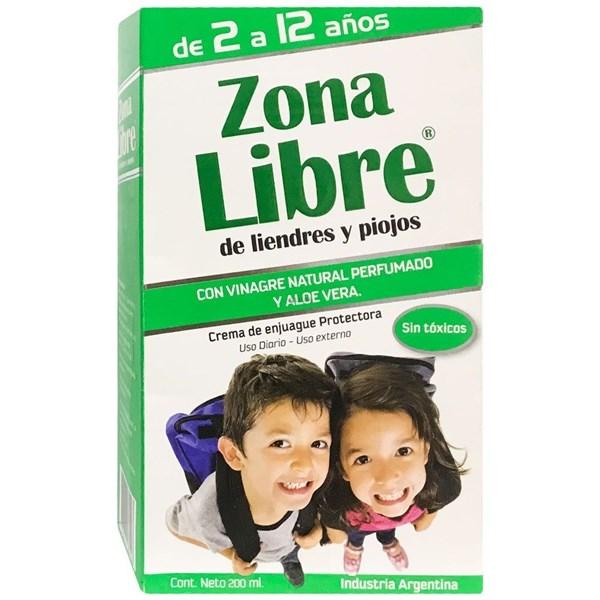 Zona Libre Crema De Enjuague Pediculicida 200ml