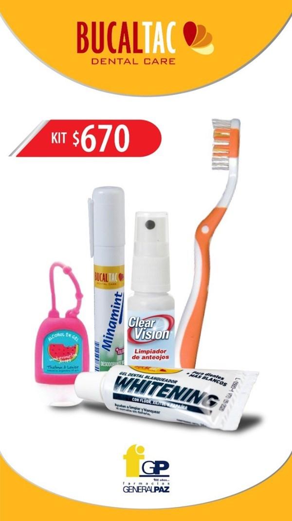 Bucal Tac Kit De Higiene (minamit + cepillo + clear vision +alcohol en gel+ gel dental)