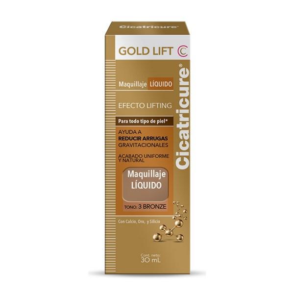 Cicatricure Gold Lift Maquillaje Líquido Tono 3 Bronze 30ml