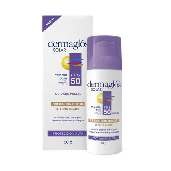 Dermaglos Protector Solar Facial Crema SPF50 50g