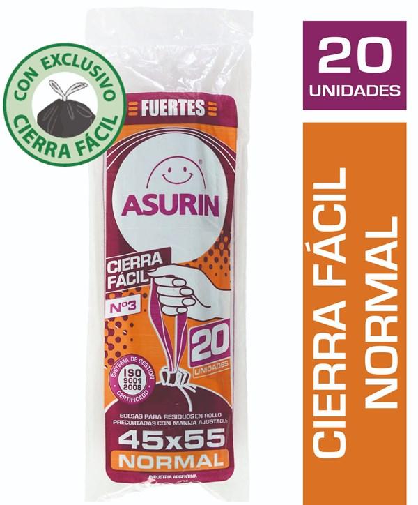 BOLSA RESID.ASURIN C/CIERRE 45X55 x 20 U