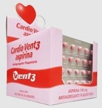 Cardio Vent3 Aspirina 100mg- 15 Blisters de 30 Comprimidos