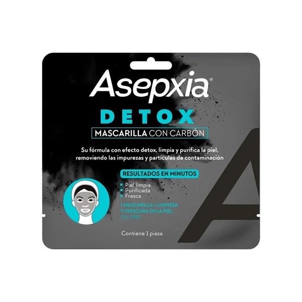 Asepxia Mascarilla Carbón Detox x1 Unidad