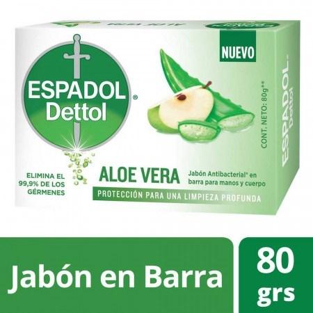 Espadol Dettol Jabón Aloe Vera X 80 Gr