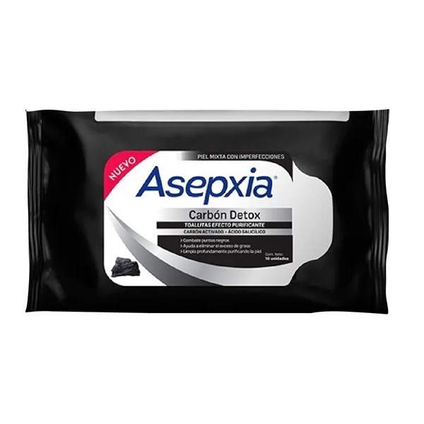Asepxia Toallitas Purificantes Carbon Detox X25unid.