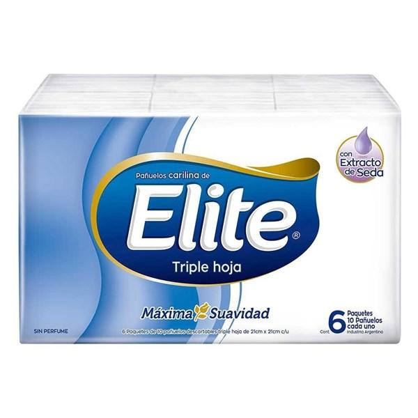 Pañuelos Descartables Elite Pocket Triple Hoja 6 pack x 10 un