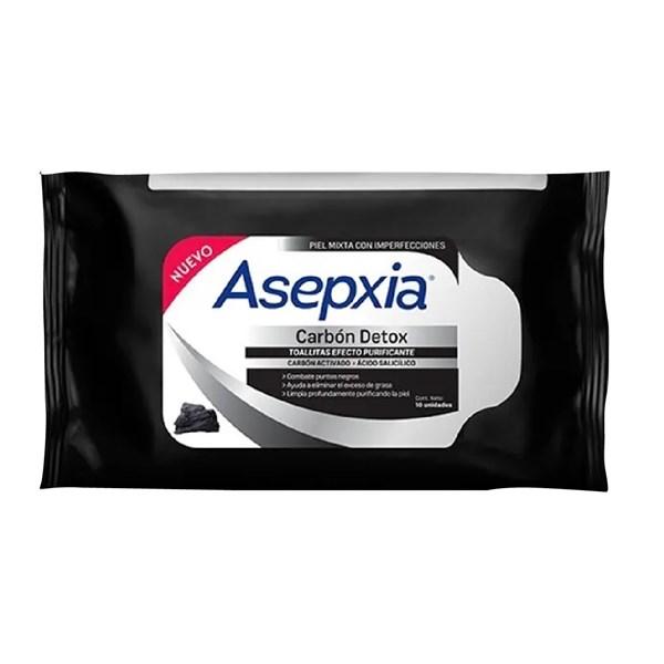 Asepxia Toallitas húmedas DETOX CARBON PURIFICAN x 25 uns PROMO 2X1 FEBRERO