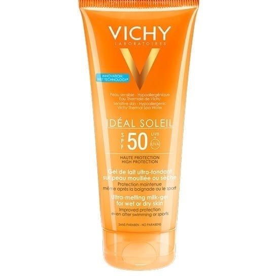 Combo Gel Invisible ultra  SPF 50 Idéal Soleil + Vichy Ideal Soleil BB Toque Seco Color FPS 50