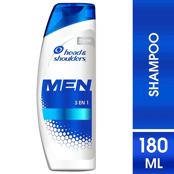 Shampoo Head & Shoulders 3en1 Para Hombres X 180 Ml