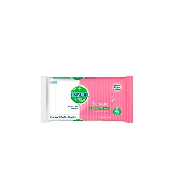 Toallas Húmedas Antibacteriales Skincare x 10un Espadol Dettol
