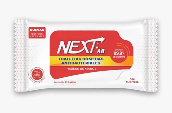 Next Toallitas Antibacteriales P/ Manos 2 unidades x25 toallitas