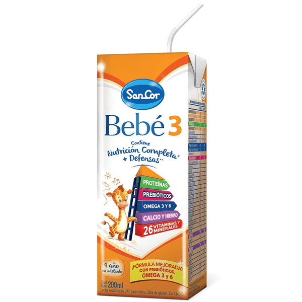 Leche SanCor Bebe 3, 200 ml