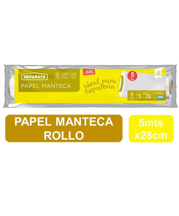 ROLLO PAPEL MANTECA SEPARATA x 28 CMS