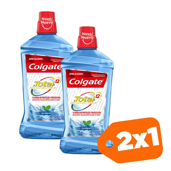 Promo 2x1Colgate Enjuague Bucal Total 12 Clean Mint 250ml