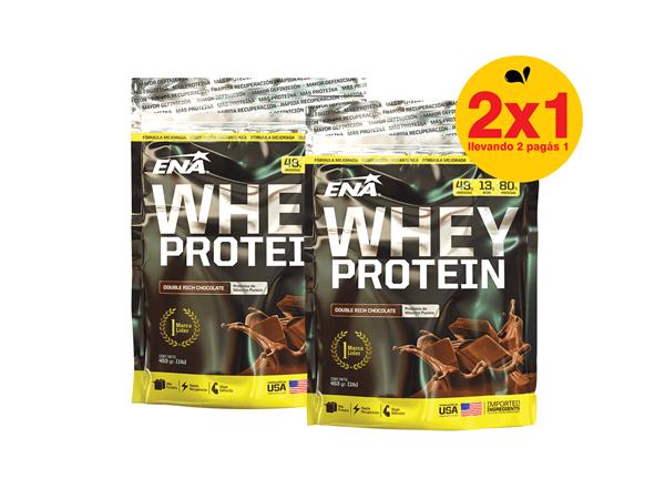 Proteína Ena Whey Protein 453gr  Sabor Chocolate 2x1