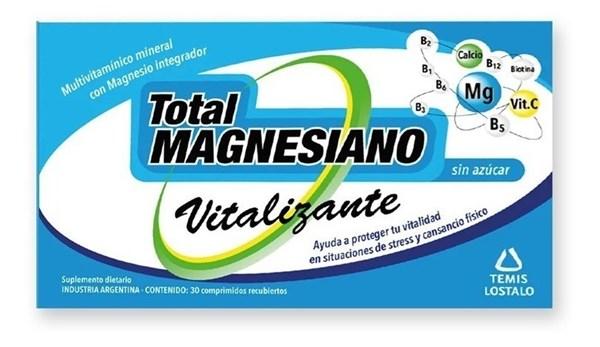Total Magnesiano Multivitaminico Vitalizante 30 Comprimidos Recubiertos