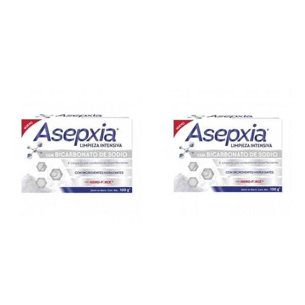 Asepxia Jabón Bicarbonato x100 gr PROMO 2X1