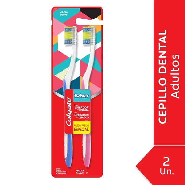 Cepillo Dental Colgate Twister Suave 2unid