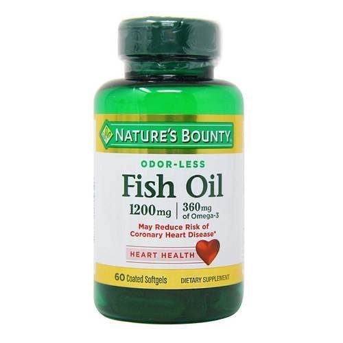 Nature's Bounty Aceite De Pescado Omega 3 Sin Olor x 60 Cap