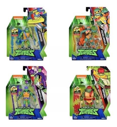 Muñecos Tortugas Ninjas Con Accesorios 80800