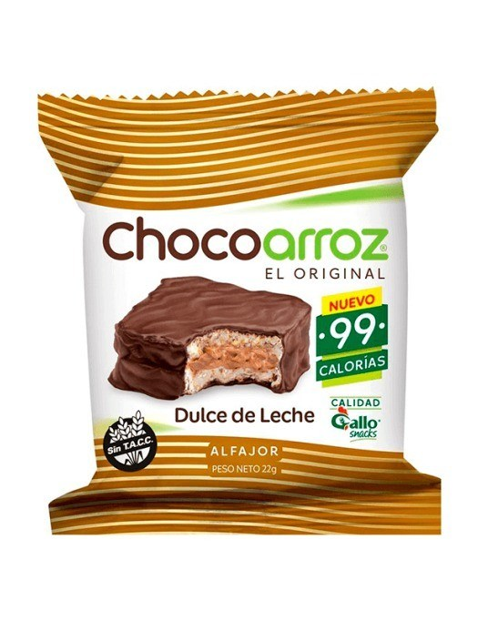 ALFAJOR ARROZ CHOCOARROZ DD LECHE
