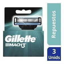 Gillette Cartuchos MACH3 BASE x 3 uns
