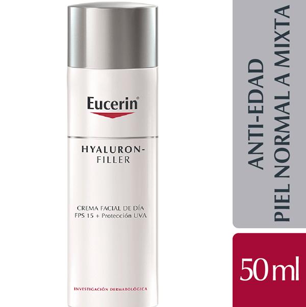 Eucerin Hyaluron Filler Crema Día Rellenadora Arrugas 50ml